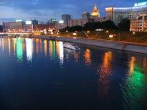 ποταμός νύχτας Στοκ εικόνα με δικαίωμα ελεύθερης χρήσης