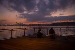 Ποταμός νύχτας Στοκ Εικόνα