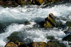 ποταμός ορμητικά σημείων ποταμού της Ισλανδίας Στοκ Εικόνες