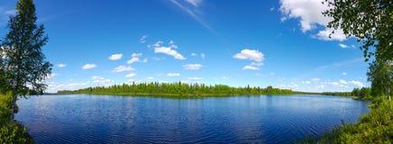 ποταμός Ουκρανία περιοχών πανοράματος dnipro kyiv Στοκ Εικόνα