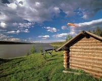 ποταμός οχυρών liard nwt Στοκ Εικόνες