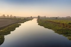 Ποταμός Ούτα Πράτες Ινδία Hindon Στοκ Εικόνες