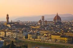 Ποταμός Παναγία del Fiore και Arno της Φλωρεντίας Στοκ Φωτογραφία