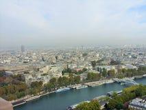 Ποταμός Παρίσι του Σηκουάνα Στοκ Εικόνα