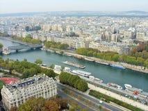 Ποταμός Παρίσι του Σηκουάνα Στοκ φωτογραφίες με δικαίωμα ελεύθερης χρήσης