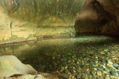 Ποταμός που βγαίνει από τη σπηλιά Στοκ Εικόνες