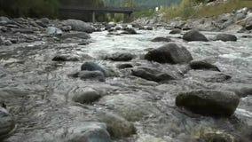 Ποταμός που τρέχει από τις Άλπεις australites Krimml φιλμ μικρού μήκους
