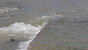 Ποταμός που τρέχει πέρα από τους βράχους στην Ταϊλάνδη απόθεμα βίντεο