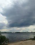 Ποταμός πριν από τη θύελλα Στοκ Εικόνα