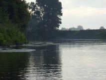 Ποταμός πρωινού στοκ φωτογραφία