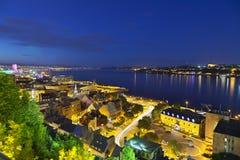 Ποταμός πόλεων του Κεμπέκ και του ST Lawrence, Καναδάς Στοκ εικόνες με δικαίωμα ελεύθερης χρήσης