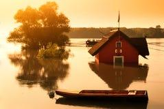 Ποταμός πλημμυρών Στοκ Εικόνες