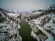 ποταμός Ρωσία βουνών altai katun Ένας χειμώνας φυσικός Στοκ φωτογραφίες με δικαίωμα ελεύθερης χρήσης