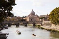 ποταμός Ρώμη tiber Στοκ Εικόνες