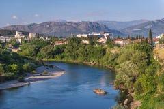 Ποταμός σε Podgorica Στοκ φωτογραφία με δικαίωμα ελεύθερης χρήσης