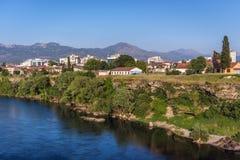 Ποταμός σε Podgorica Στοκ εικόνες με δικαίωμα ελεύθερης χρήσης