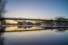 Ποταμός Σηκουάνας με Pont des Arts και Institut de Γαλλία στην ανατολή Στοκ Εικόνες