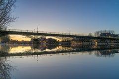 Ποταμός Σηκουάνας με Pont des Arts και Institut de Γαλλία Στοκ Φωτογραφίες