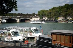 Ποταμός Σηκουάνας στο Παρίσι, Γαλλία Στοκ Φωτογραφία