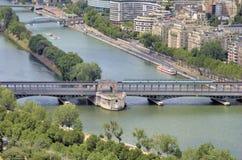 Ποταμός Σηκουάνας στοκ εικόνα με δικαίωμα ελεύθερης χρήσης