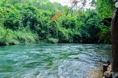 ποταμός στην κεντρική Ταϊλάνδη Στοκ Εικόνα