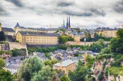 Ποταμός στην πόλη Luxemourg Στοκ φωτογραφίες με δικαίωμα ελεύθερης χρήσης