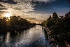Ποταμός στην Υόρκη, Γιορκσάιρ, Αγγλία το UK Στοκ Εικόνα