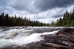 Ποταμός στη Σουηδία στοκ εικόνα