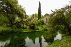 Ποταμός στον κήπο Nympha στοκ φωτογραφίες