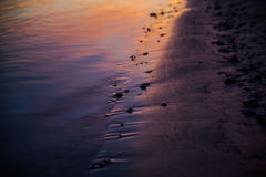 Ποταμός στο ηλιοβασίλεμα Στοκ φωτογραφία με δικαίωμα ελεύθερης χρήσης