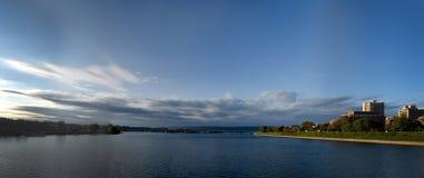 Ποταμός στο Χάρισμπουργκ στοκ φωτογραφίες