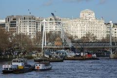 Ποταμός Τάμεσης - Λονδίνο - Αγγλία Στοκ Φωτογραφία