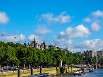 Ποταμός Τάμεσης στο Λονδίνο (hdr) Στοκ φωτογραφίες με δικαίωμα ελεύθερης χρήσης