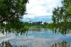 ποταμός Ταϊλάνδη samutsakorn Στοκ φωτογραφία με δικαίωμα ελεύθερης χρήσης