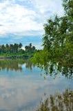 ποταμός Ταϊλάνδη samutsakorn Στοκ εικόνες με δικαίωμα ελεύθερης χρήσης