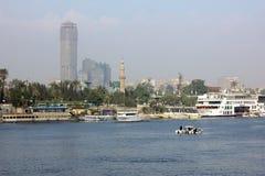 Ποταμός της Αιγύπτου Κάιρο Νείλος Στοκ Φωτογραφία