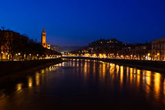 Ποταμός της Βερόνα Στοκ φωτογραφίες με δικαίωμα ελεύθερης χρήσης