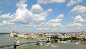 ποταμός της Βουδαπέστης &De Στοκ Φωτογραφία