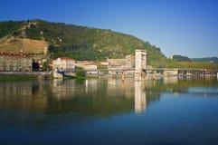 ποταμός της Γαλλίας Ροδανός tournon Στοκ Εικόνες