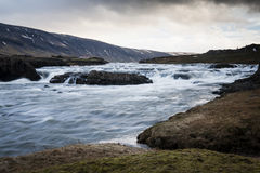 ποταμός της Ισλανδίας Στοκ Φωτογραφία