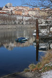 ποταμός της Λυών Ροδανός τ&r Στοκ εικόνα με δικαίωμα ελεύθερης χρήσης