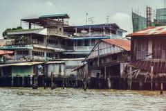 Ποταμός της Μπανγκόκ και Chao Phraya στοκ φωτογραφία με δικαίωμα ελεύθερης χρήσης