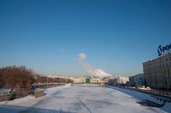 ποταμός της Μόσχας Στοκ Φωτογραφίες