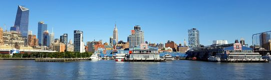 Ποταμός της Νέας Υόρκης ΗΠΑ Manhetan hudson Στοκ Εικόνα