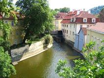 ποταμός της Πράγας Στοκ φωτογραφίες με δικαίωμα ελεύθερης χρήσης