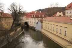 ποταμός της Πράγας chertovka στοκ εικόνες με δικαίωμα ελεύθερης χρήσης
