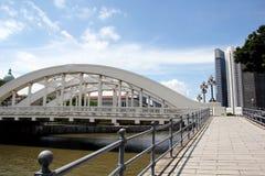 Ποταμός της Σιγκαπούρης και γέφυρα Σιγκαπούρη Elgin Στοκ εικόνες με δικαίωμα ελεύθερης χρήσης