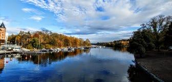 Ποταμός της Στοκχόλμης στοκ φωτογραφίες
