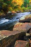 ποταμός τοπίων πτώσης Στοκ Εικόνες