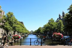 ποταμός του Άμστερνταμ στοκ εικόνες